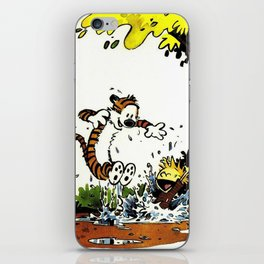 calvin hobbes iPhone Skin