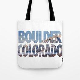 Boulder Colorado in Winter Tote Bag