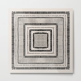 Black & White Symmetrical Pattern #2 Metal Print