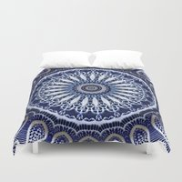 china Duvet Covers featuring China Blue by Peter Gross