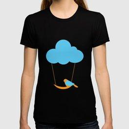 Cute bird and cloud T-shirt