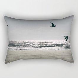 Flight of Seagulls Rectangular Pillow