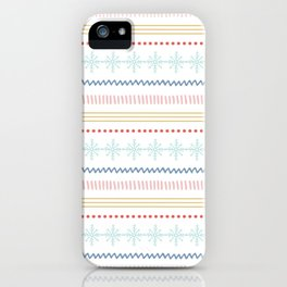 Merry Fair Isle - Vintage Colors iPhone Case