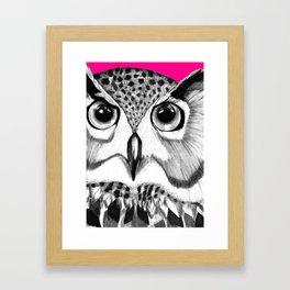 mysterious owl Framed Art Print