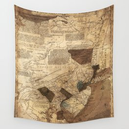 Map of Pensilvania, New Jersey, NewYork, and three Delaware counties (1752) Wall Tapestry