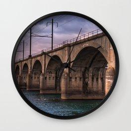 Color me bridge Wall Clock