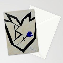 B/ue Robin's Rose Stationery Cards