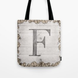 Neutral Monogram F Tote Bag