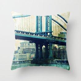 manhattan bridge study_02 Throw Pillow