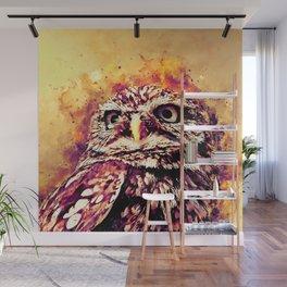 owl portrait 5 wslsh Wall Mural