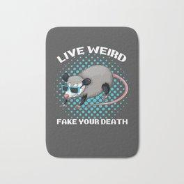 Possum Live Weird Fake Your Death Bath Mat