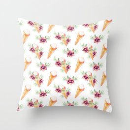 Hawaiian Dream Ice Cream Throw Pillow