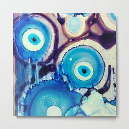 Evil Eye Tears Metal Print