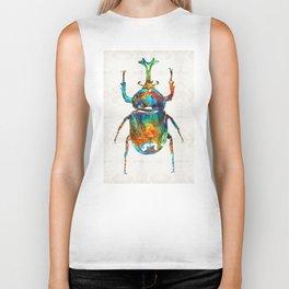 Colorful Beetle Art - Scarab Beauty - By Sharon Cummings Biker Tank