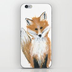 Fox on Snow iPhone & iPod Skin