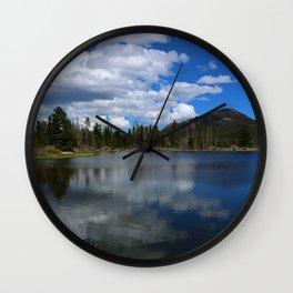 Sprague Lake Reflection Wall Clock