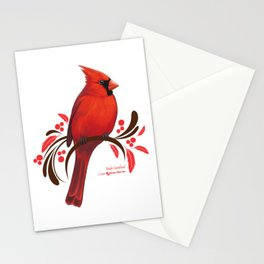 Male Cardinal Stationery Cards