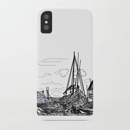 boats on the sea . artwork iPhone Case