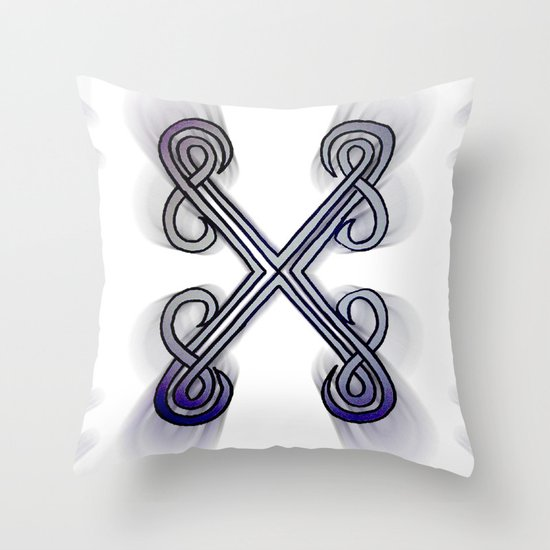 X's Throw Pillow