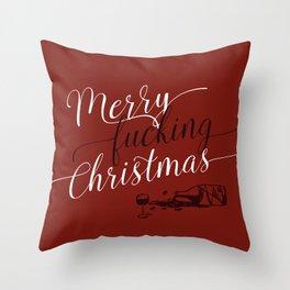Merry f*cking Christmas Throw Pillow