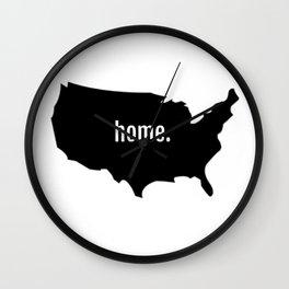 Home T Shirt Wall Clock