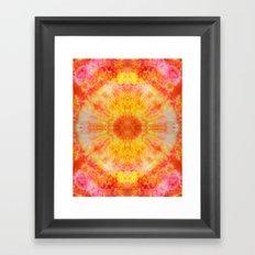Orange Sunburst Framed Art Print