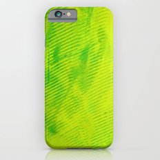 Yellow and Green Stripes iPhone 6s Slim Case