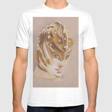 fACE/oFF MEDIUM White Mens Fitted Tee