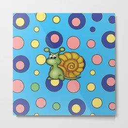 snail bubbles Metal Print