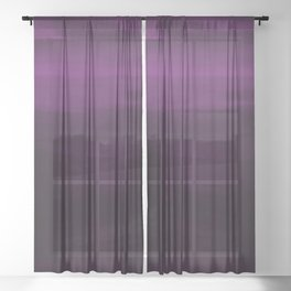 Moody Purple Plum Watercolor Sheer Curtain
