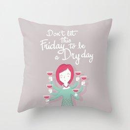 Friday mood Throw Pillow