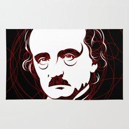 Edgar Allan Poe Circles Portrait Rug