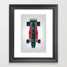 Outline Series N.º2, Mario Andretti, Lotus 80-Ford 1980 Framed Art Print