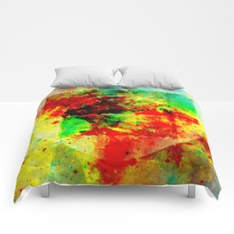 Subtle Form - Abstract colour painting Comforters