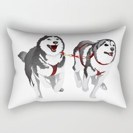 THE HUSKIES Rectangular Pillow
