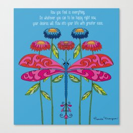 Law of Attraction Dragonfly Canvas Print