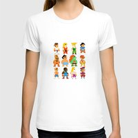 street fighter T-shirts featuring 8 Bit Street Fighter by thedoormouse