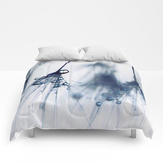dandelion - blue Comforters