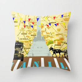 Locals Only - Manila Throw Pillow