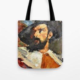 12,000pixel-500dpi - Portrait of a Man - Helene Sofia Schjerfbeck Tote Bag