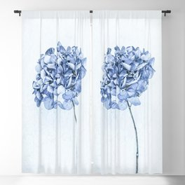 Hydrangea Blue 2 Blackout Curtain