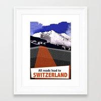 switzerland Framed Art Prints featuring Switzerland by TheGretest
