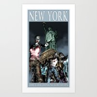 Art Print featuring Travel Posters of the Apocalypse: New York by Shawn Conn