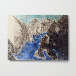 Flowing through the Mounts Metal Print