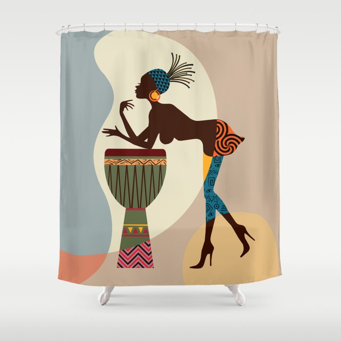 Afrocentric Chic II Shower Curtain