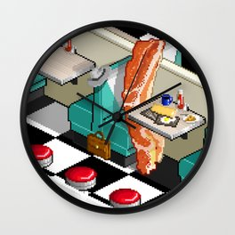 Bacon Detective Wall Clock