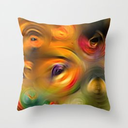 Heaven's Eyes - Abstract Art By Sharon Cummings Throw Pillow