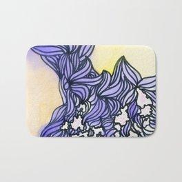 Purple Waves watercolor Bath Mat