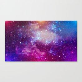 Pink Star Galaxy Painting Canvas Print