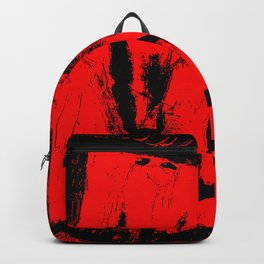 Red an black chaos Backpack